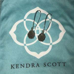 Kendra Scott silver druzy drop earrings